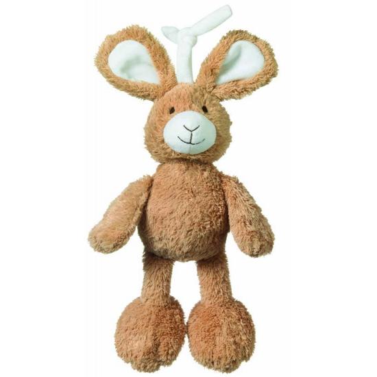 Muziek knuffeltje konijn 25 cm