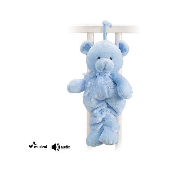 Muziekknuffels blauwe beer 33 cm