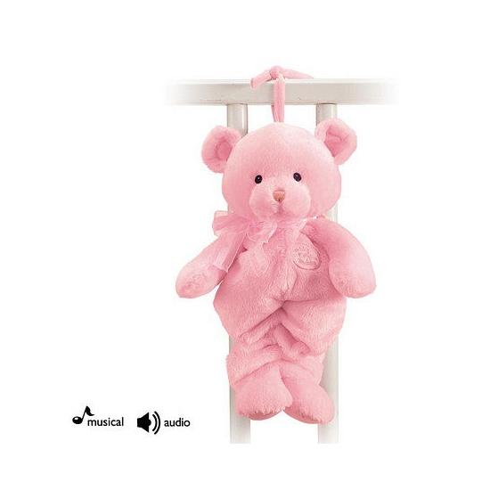 Muziekknuffels roze beer 33 cm