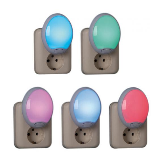Nachtlampjes 230 v 5 kleuren