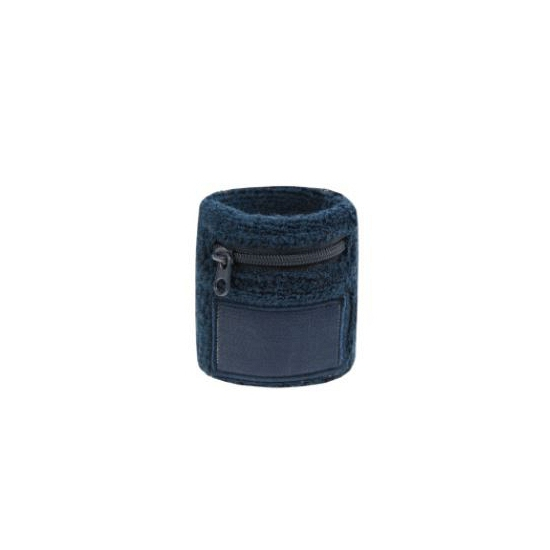 Navy blauwe zweetbandjes met zakje