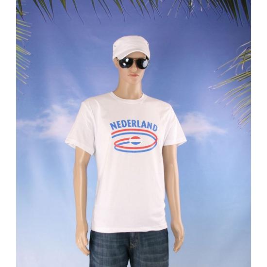 Nederland t shirt wit