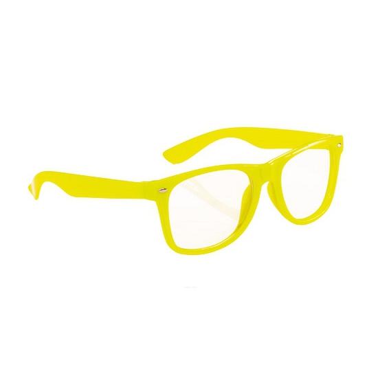 Neon gele party bril voor volwassenen