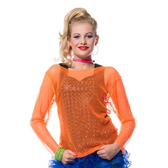 Neon oranje eighties shirt