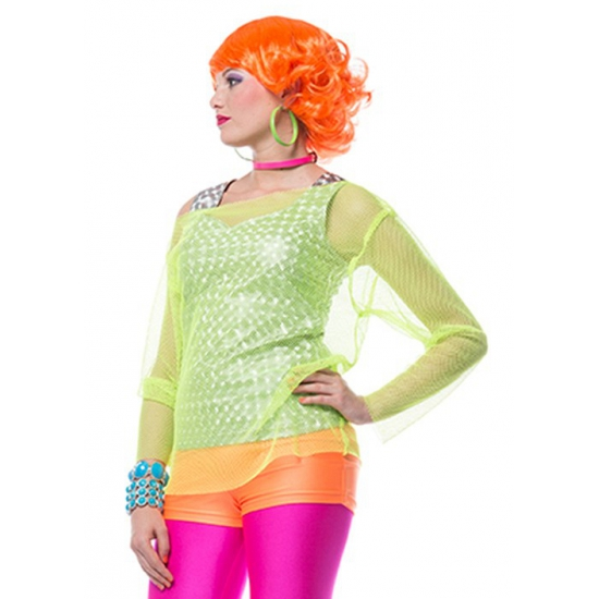 Neon oranje hotpants dames