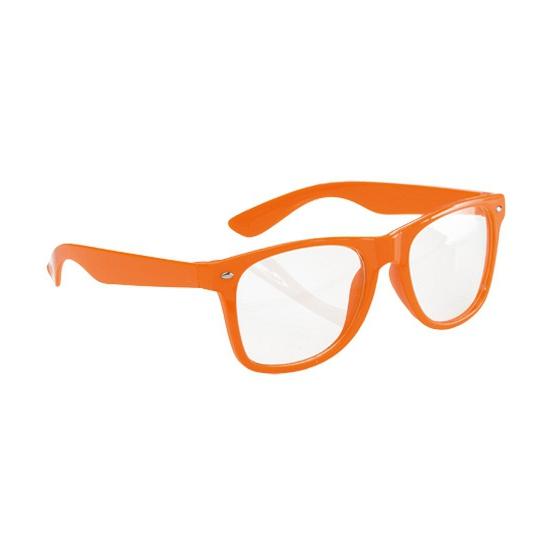 Neon oranje party bril voor volwassenen
