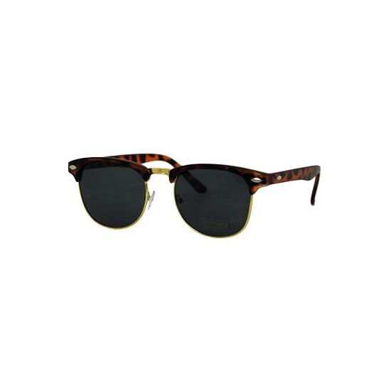 Nep Clubmaster zonnebril turtle bruin