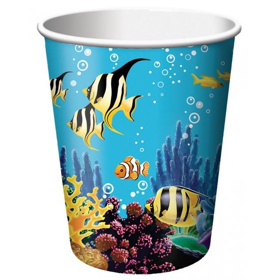 Oceaan feestbekers 8 stuks