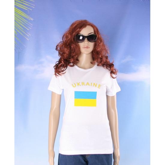 Oekraiens vlaggen t shirt voor dames