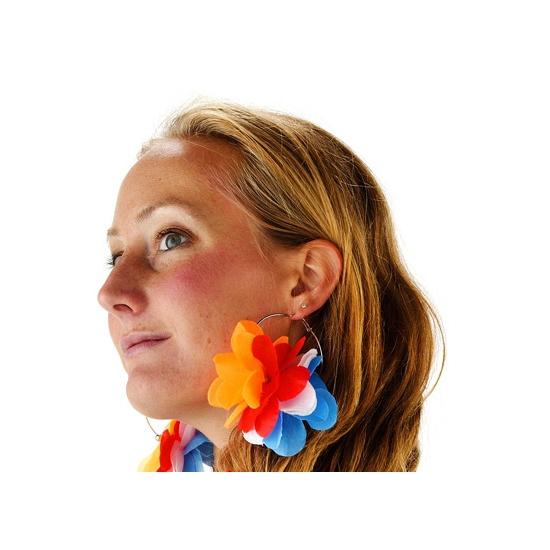Oorbellen met Holland bloemen