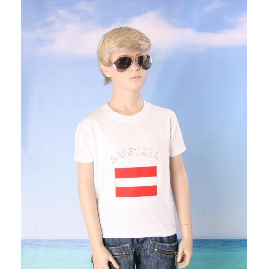 Oostenrijks vlaggen t shirt voor kinderen