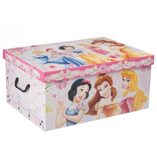 Opbergdoos met plaatjes van Disney Princess 51 cm