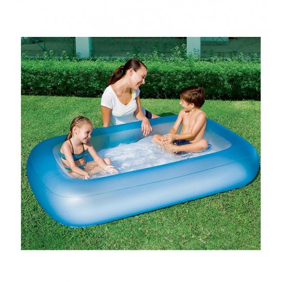 Opblaas zwembad blauw