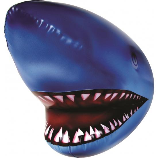 Opblaasbare haaienhoofd blauw 44 cm