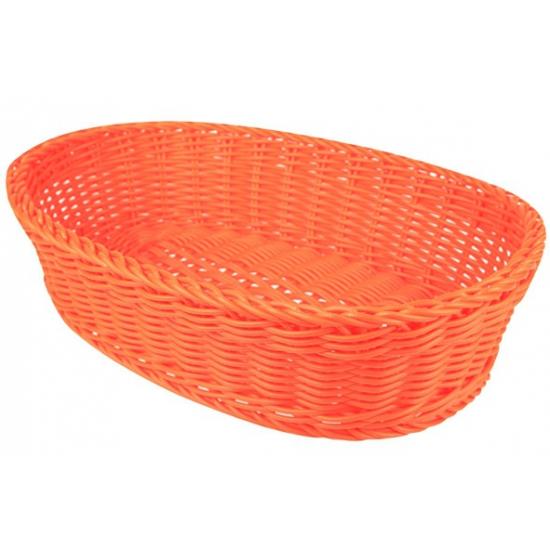 Oranje broodmandje ovaal 36 cm