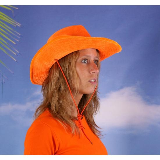 Oranje cowboyhoeden