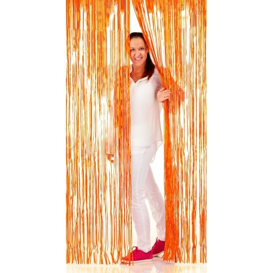 Oranje deur decoratie gordijnen 2 m