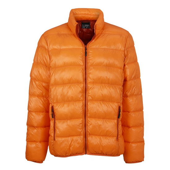 Oranje dons winterjas voor heren
