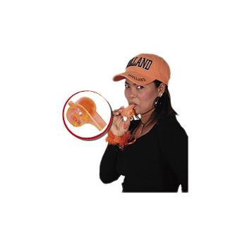 Oranje fluit met licht