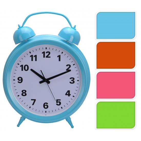 Oranje klok in de vorm van een wekker