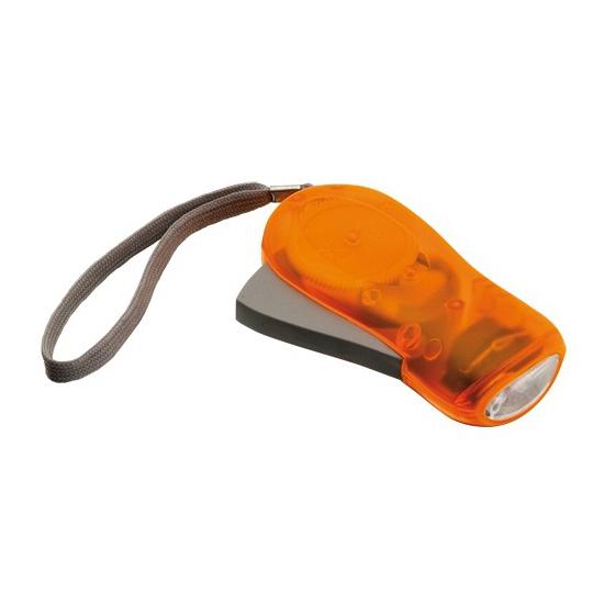 Oranje knijp zaklamp LED