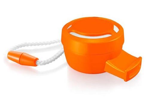 Oranje mini fluitje
