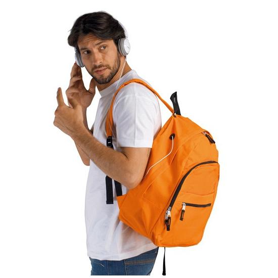 Oranje polyester reistas 38 cm voor volwassenen