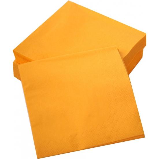 Oranje servetjes 50 stuks