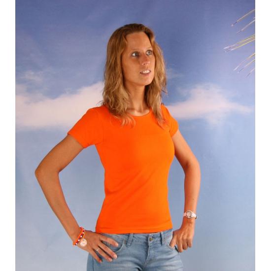 Oranje t shirt voor dames