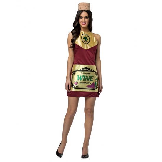 Origineel kostuum wijnfles