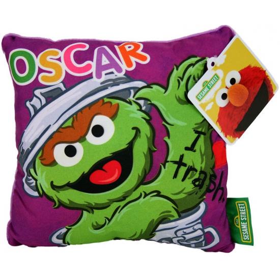 Oscar Sesamstraat kussen 18 cm