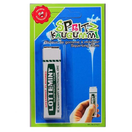 Pakje kauwgom met waterspuit