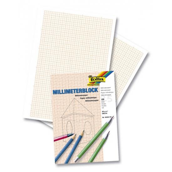 Papier blok millimeter A4