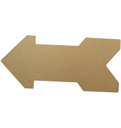 Papier mache pijl van 28 cm