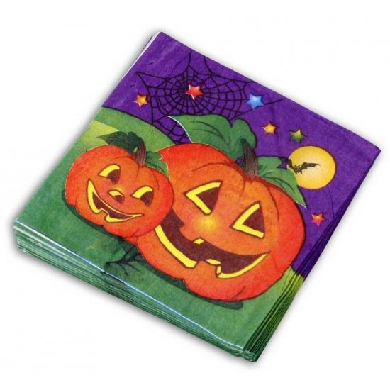 Papieren Halloween servetten 20 stuks