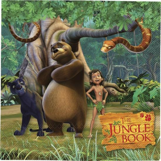 Papieren Jungle Book servetten 20 stuks