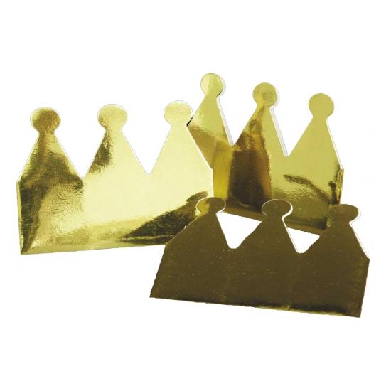Papieren kroontjes 6 stuks