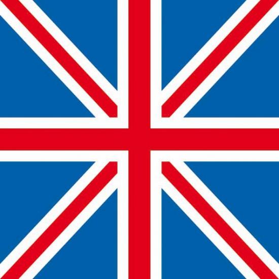 Papieren servetten Engelse vlag