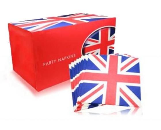 Papieren servetten met de Engelse vlag