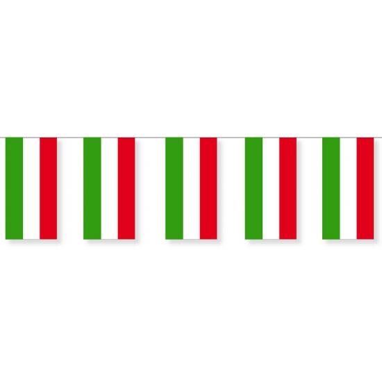 Papieren vlaggenlijnen Hongarije