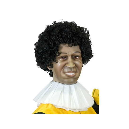 Papieren Zwarte Piet kraag 3 laags