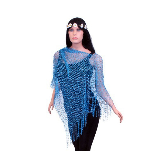Party poncho turquoise blauw