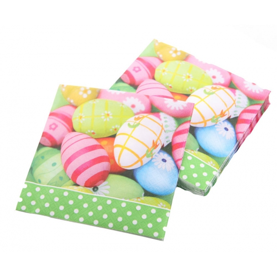 Pasen servetten 20 stuks met eieren