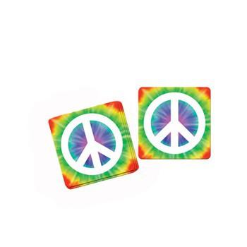 Peace onderzetters 8 stuks