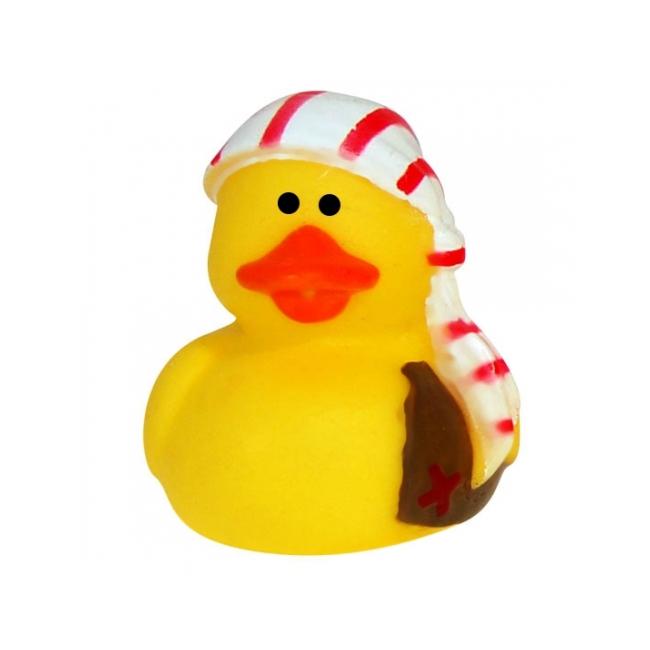 Piraat badeendje 5 cm met muts