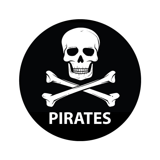 Pirates sticker rond