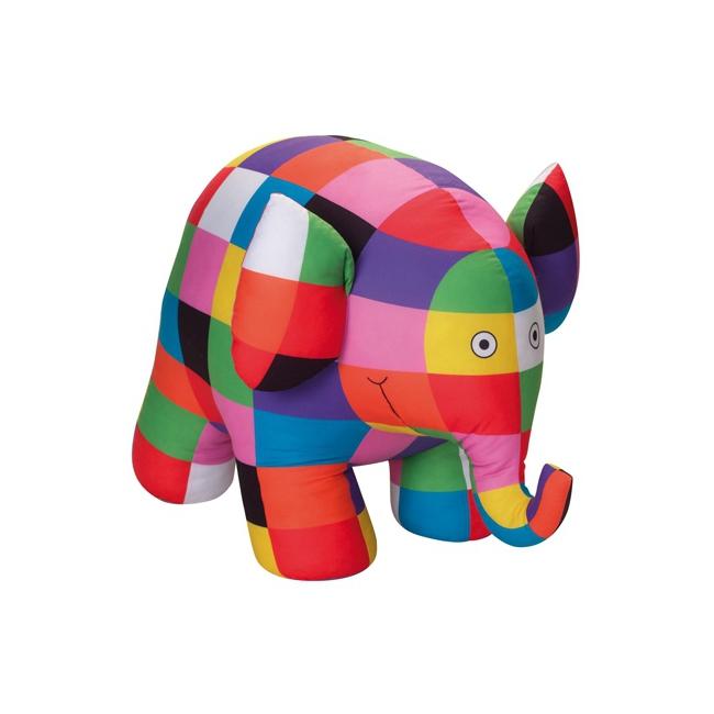 Pluche gekleurde olifanten knuffel 20 cm