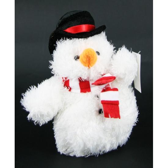 Pluche knuffel sneeuwpoppetje 14 cm