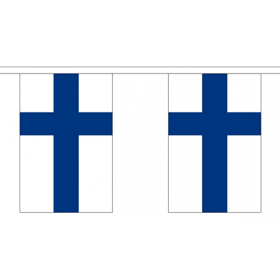 Polyster vlaggenlijn Finland 3 m