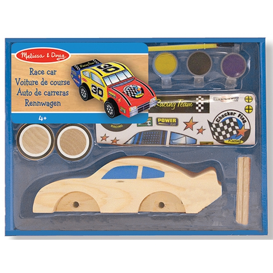 Race auto bouwpakket van hout